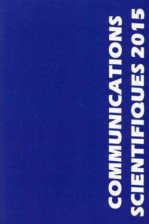 Communications Scientifiques MAPAR (édition 2015)